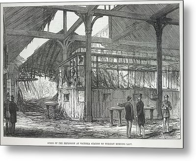 Explosion At Victoria Station Metal Print by British Library
