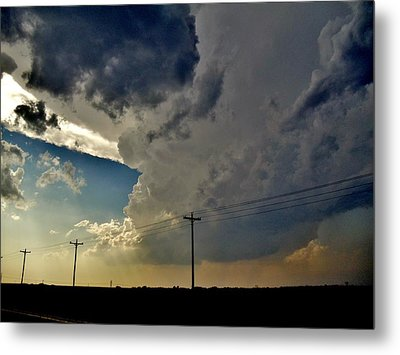 Explosive Texas Supercell Metal Print by Ed Sweeney