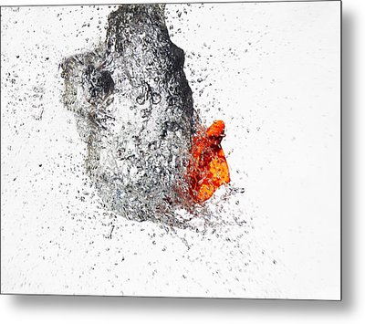 Explosive Water Balloon Metal Print by Jay Harrison