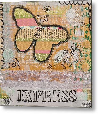 Express Yourself Inspirational Art Metal Print