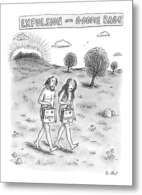 Expulsion With Goody Bags Metal Print by Roz Chast