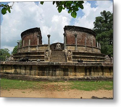 Exterior Of Polonnaruwa Vatadage Metal Print by Panoramic Images