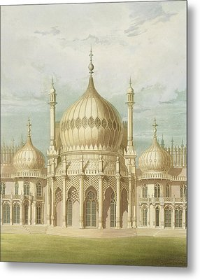 Exterior Of The Saloon From Views Of The Royal Pavilion Metal Print