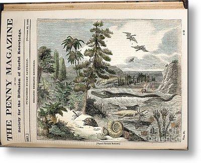 Extinct Animals, Penny Magazine, 1833 Metal Print by Paul D. Stewart