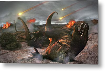 Extinction Of The Dinosaurs Metal Print by Karsten Schneider