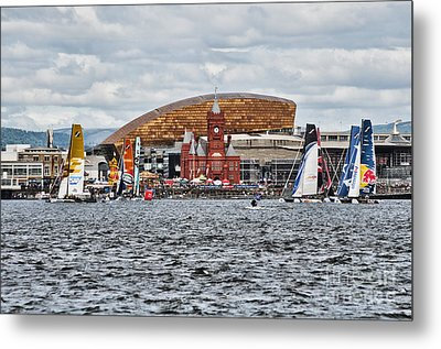 Extreme 40 At Cardiff Bay Metal Print by Steve Purnell