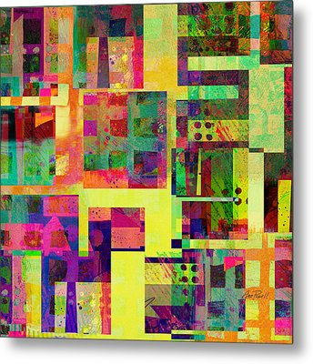 Extreme Color  Abstract Art  Metal Print by Ann Powell