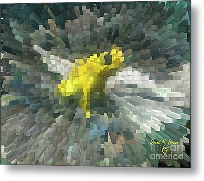 Metal Print featuring the photograph Extrude Yellow Frog by Donna Brown