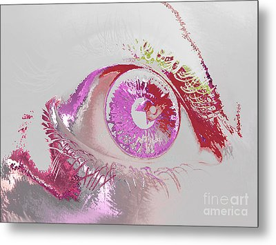 Eye 3 Metal Print by Soumya Bouchachi