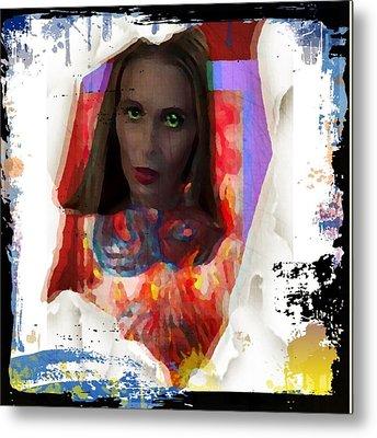 Metal Print featuring the digital art Eye Am  by Lisa Piper