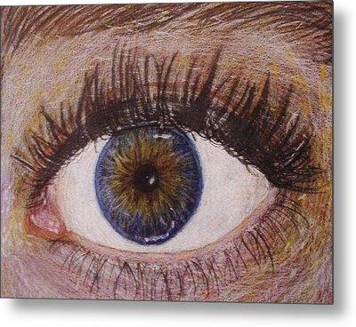 Eye Drawing Metal Print by Savanna Paine