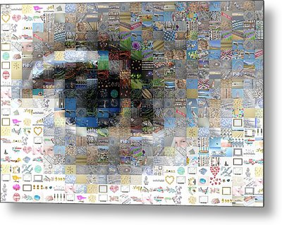 Eye Mosaic Metal Print by Delphimages Photo Creations