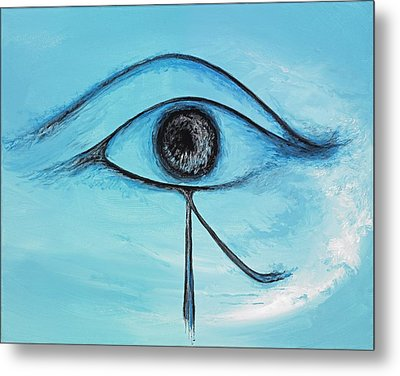 Eye Of Horus In The Sky Metal Print by David Junod