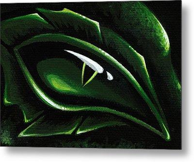 Eye Of The Emerald Green Dragon Metal Print by Elaina  Wagner