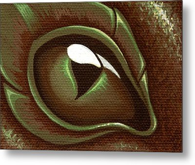 Eye Of The Forest Dragon Hatchling Metal Print by Elaina  Wagner