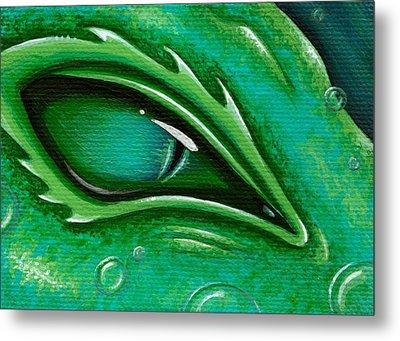Eye Of The Green Algae Dragon Metal Print by Elaina  Wagner