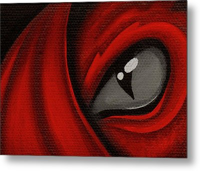 Eye Of The Scarlett Hatching Metal Print by Elaina  Wagner