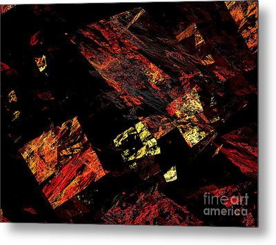 Eye Of The Storm 4 - Flying Debris - Abstract - Fractal Art Metal Print by Andee Design
