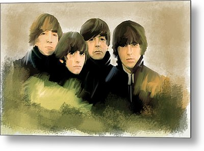 Eye Of The Storm The Beatles Metal Print by Iconic Images Art Gallery David Pucciarelli