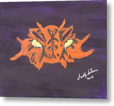 Eye Of The Tiger Metal Print by Swabby Soileau