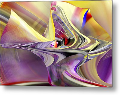 Eye Watcher - Abstract Art Metal Print