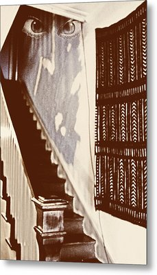 Eyes At The Top Of The Stairs Metal Print