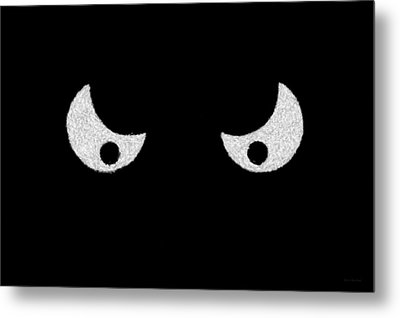 Eyes - In The Dark Metal Print by Mike Savad