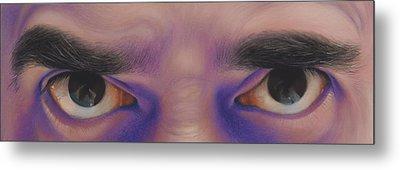 Eyes In The Mirror - Pastel Metal Print by Ben Kotyuk