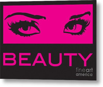 Eyes On Beauty Metal Print