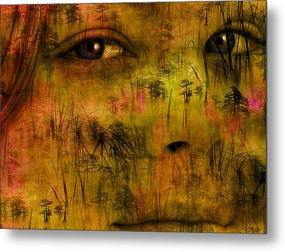 Metal Print featuring the digital art Eyes Only For Jesus by J Larry Walker