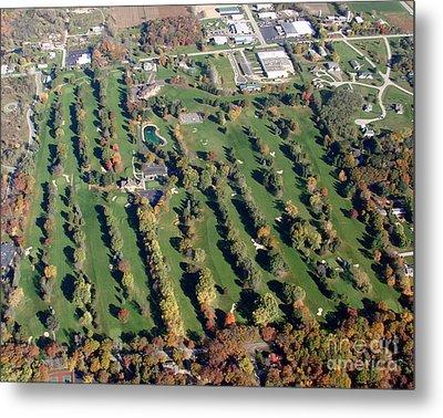 F-016 Far View Golf Course Fall Oshkosh Wi Metal Print