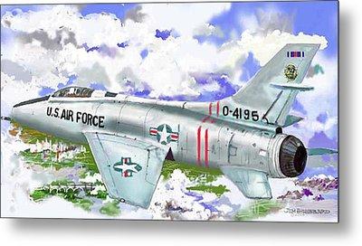 F-100 D Super Sabre Metal Print by Jim Hubbard