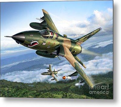 F-105g Wild Weasels Metal Print by Stu Shepherd