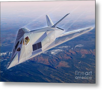 F-117 The Dragon Metal Print by Stu Shepherd
