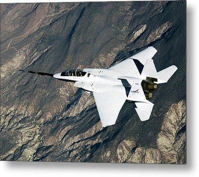 F-15b Quiet Spike Test Plane Metal Print