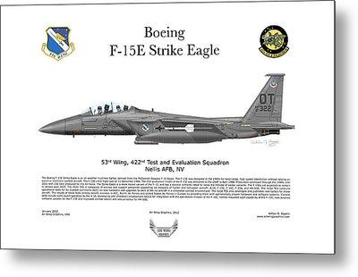 F-15e Strike Eagle 442d Tes Metal Print by Arthur Eggers