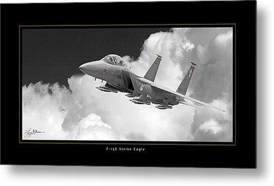 F-15e Strike Eagle Metal Print by Larry McManus