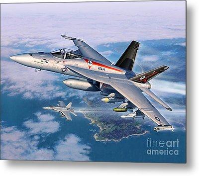 F-18e Super Hornet Metal Print by Stu Shepherd
