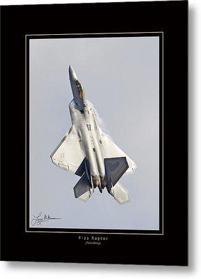F-22 Raptor Tailwalking Metal Print by Larry McManus