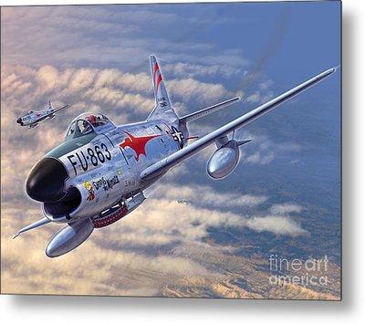 F-86d All Weather Menace Metal Print by Stu Shepherd