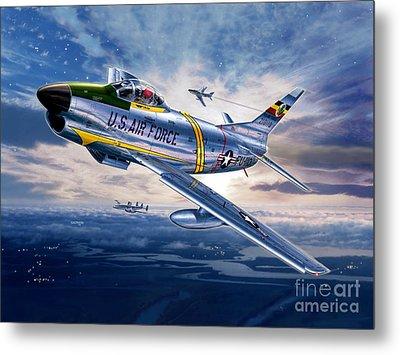 F-86d Sabre Dog Metal Print by Stu Shepherd
