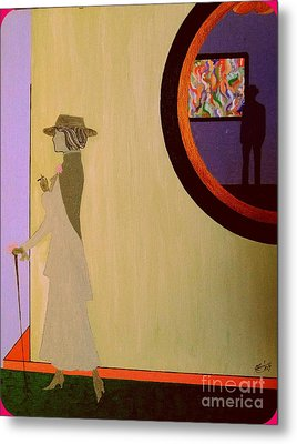 Metal Print featuring the painting F Scott Waiting For Zelda by Bill OConnor