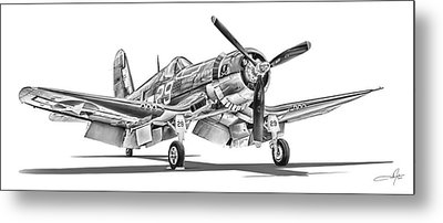 F4u Corsair Metal Print by Dale Jackson