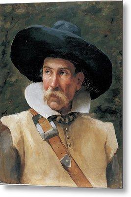 Fabbri Paolo Egisto, Portrait Of A Man Metal Print by Everett