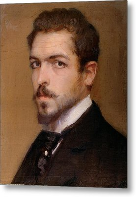 Fabbri Paolo Egisto, Self-portrait Metal Print by Everett