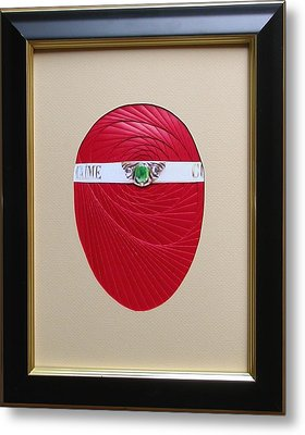 Metal Print featuring the mixed media Faberge Egg 1 by Ron Davidson