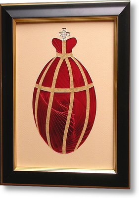 Metal Print featuring the mixed media Faberge Egg 2 by Ron Davidson