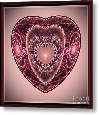 Metal Print featuring the digital art Faberge Heart by Svetlana Nikolova