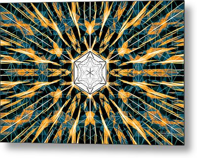 Metal Print featuring the drawing Fabric Of The Universe by Derek Gedney