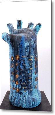 Fabulas Blue Hand  Metal Print by Mark M  Mellon